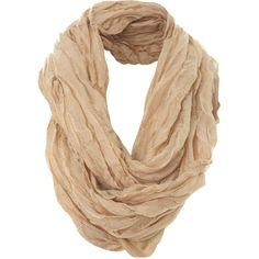 Miss Selfridge Oat Ladder Snood (6.310 CLP) ❤ liked on Polyvore featuring accessories, scarves, bufandas, accessories - scarves, oatmeal, miss selfridge and snood scarves
