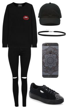 """""""Outfit"""" by andreeadeeix12 ❤ liked on Polyvore featuring Markus Lupfer, Puma, Vans and BillyTheTree"""