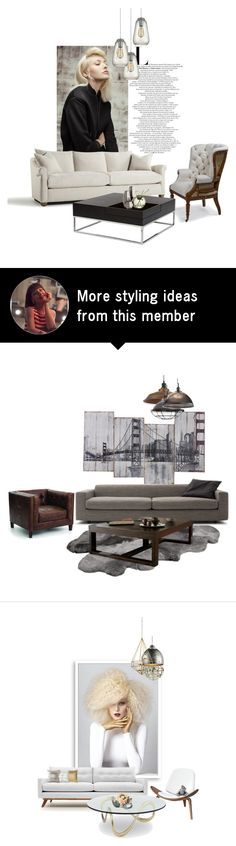 """light"" by katrisha-art on Polyvore featuring interior, interiors, interior design, home, home decor, interior decorating, Dot & Bo, Pangea, Cyan Design and Niche Modern"
