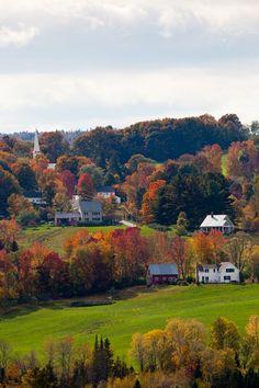 Autumn in Peacham, Vermont