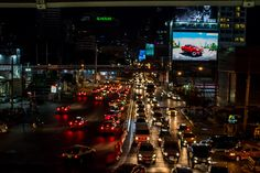 A sea of red and white lights, Bangkok, Thailand - The Project Lifestyle