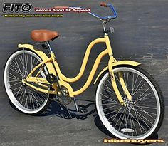 """Free Shipping! Fito Verona Sport SF 1-speed Women - VANILLA, 26"""" Beach Cruiser Bike Bicycle, Step-through & crank fordward design, Limted QTY Offer! - http://www.bicyclestoredirect.com/free-shipping-fito-verona-sport-sf-1-speed-women-vanilla-26-beach-cruiser-bike-bicycle-step-through-crank-fordward-design-limted-qty-offer/"""
