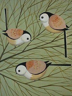 Birds by Catriona Hall Birds Painting, Art Painting, Bird Design, Animal Art, Bird Patterns, Art Projects, Illustration Art, Bird Illustration, Bird Prints