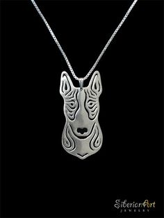 Bull terrier  sterling silver dog jewelry  by SiberianArtJewelry, $99.00