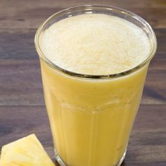 A touch of pineapple-OJ gives this healthy smoothie a truly tropical feel  #EatingWellSummerFaves
