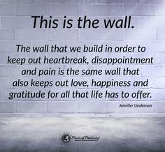 This is the wall