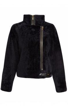 J Brand RTW Kay Leather Jacket - Navy Noir #jbrand #jbrandrtw #leatherjacket