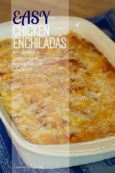 Easy Chicken Enchiladas - chicken - small tortillas - 2 cans favorite enchilada sauce - cream cheese - shredded cheese - onion - optional toppings - salsa - diced avocado - guacamole