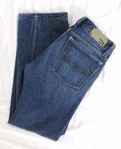 DIESEL Levan Jeans 31 x 30 Regular Straight Leg Denim Embellished Distressed EUC #DIESEL #ClassicStraightLeg