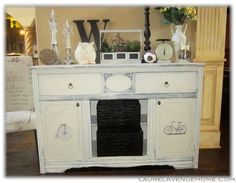 My latest love...I just finished this one and it is available on our website LaurelAvenueHome.Com  Annie Sloan Chalk Paint in Graphite and Old White