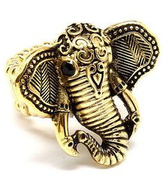 Elephant Ring | Gold Effect