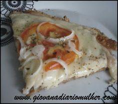 Diário de Mulher: Receita: Pizza Grande (Dukan)