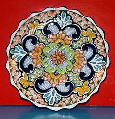 Mexican Talavera Decorative Wall Plate Artisan #design #Talavera #handmade #Mexican explore MexicanConnexion.com
