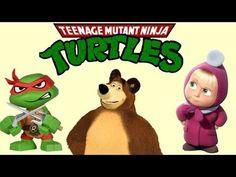 Masha and the Bear VS Teenage Mutant Ninja Turtles TMNT round 2 - Eggs a...
