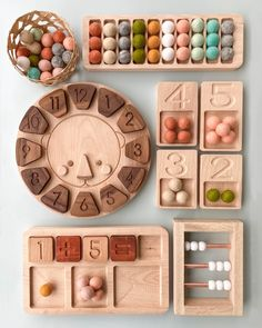These cute little educational toys make learning fun! Montessori Playroom, Montessori Toddler, Montessori Activities, Infant Activities, Toddler Toys, Wooden Educational Toys, Educational Toys For Toddlers, Learning Toys, Toys For Kids