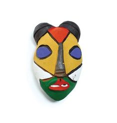 Show details for Cameroon Painted Clay Mask #walldecor #accentwall #homedecor