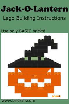 What's a halloween without Jack-O-Lantern? Download the lego instructions at…