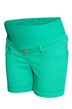 5d35150e0a22 H&M H & M - MAMA Twill Shorts - Green - Women Maternity Swimsuit, Spring