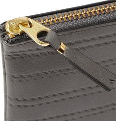 Comme des Garçons Stitch-Embossed Half-Zip Leather Wallet
