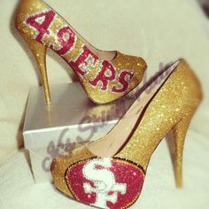 49ers heels ready for Super bowl! !