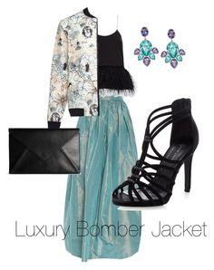"""Luxury Bomber Jacket"" by francisca-cienfuegos on Polyvore featuring moda, Swarovski, Martin Grant, TIBI, Gyunel, Maison Margiela, women's clothing, women, female y woman"
