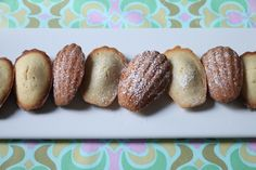 PERFECT and pretty easy Madeleines. We did minis... 9 minutes in the oven, and zest a whole lemon.