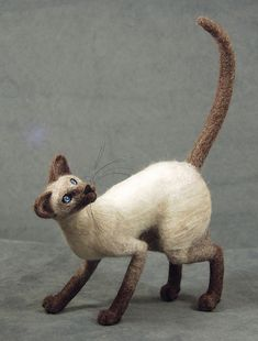 Marly by bjmaiee - needle felted cat