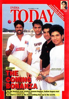 Sachin Tendulkar on India Today's Cover 1991.