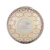 "Voluspa Maison Blanc ""Pink Citron"" 2 Wick Printed Tin Candle $25"