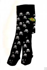 """Our """"Ahoy"""" range feature the timelessly funky scull and cross-bones image on a black background, a classic image for little pirates. Baby Tights, Cotton Tights, Funky Design, One Design, Dandy, Dungarees Shorts, Classic Image, 6 Years, Baby Love"""