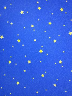 Blue wallpaper with yellow stars (ebay)