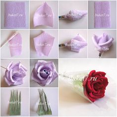 How to make beautiful Rose flowers step by step DIY tutorial instructions