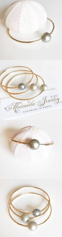 Pearl 164316: Bangle Rumi - Silver Tahitian Pearl Bangle (B303) -> BUY IT NOW ONLY: $55 on eBay!