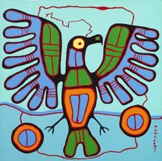 Bead Embroidery ART with Mrs. A: Norval Morrisseau and Grade Animal Paintings Native American Images, Native American Artists, Canadian Artists, Arte Inuit, Inuit Art, Woodland Art, Ecole Art, Indigenous Art, Native Art