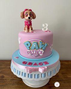 Skye Paw Patrol Cake, Celebration Cakes, Gabriel, Birthday Cake, Inspired, Desserts, Handmade, Food, Shower Cakes