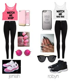 """bestfriend"" by sike-a-da-nahhh ❤ liked on Polyvore featuring Dr. Denim, NIKE, Kate Spade, OPI, Smoke & Mirrors and Matthew Williamson"