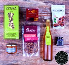 Box mit ausgewählten, neuen Lebensmitteln Food Box, Pure Leaf Tea, Recipe Box, Almond, Pure Products, Post, Coffee, Bottle, Drinks
