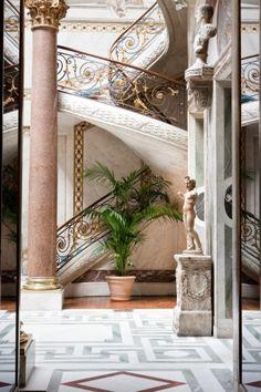 Musée Jacquemart-André. Jardin d'Hiver escalier