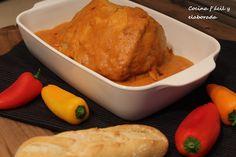 cocina facil y elaborada: LOMO DE CERDO EN SALSA DE PIMIENTOS