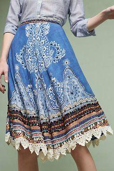 Jinette Denim Skirt
