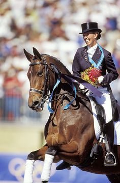 Legendary dressage horse Bonfire; ridden by Ankyvan Grunsvenhas recently passed. Anky owned Bonfire for 27 years, and rates the gold medal at the Sydney Olympics as their greatest achievement. Rest In Peace, Bonfire.