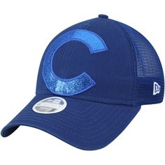 48c6130f1f78db Women's Chicago Cubs New Era Royal Shined Up Trucker 9TWENTY Adjustable Hat,  Your Price: $23.99