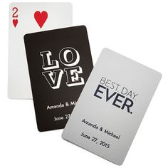 Personalized Deck of Playing Cards for guests