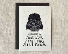 You weren't the worst dad   Darth Vader Father's Day Card at Wit and Whistle