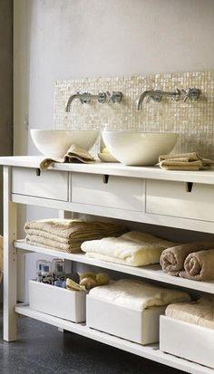 Salle de bain meuble drapier