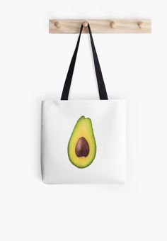 Half avocado with stone isolated on white background • Also buy this artwork on bags, apparel, stickers, and more.