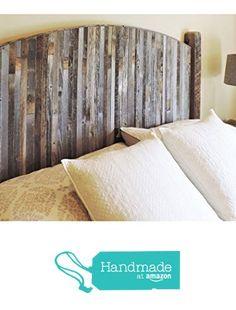 Farmhouse Style Arched King Bed Barn Wood Headboard w/ Narrow Rustic Reclaimed Wood Slats from AllBarnWood [afflink]