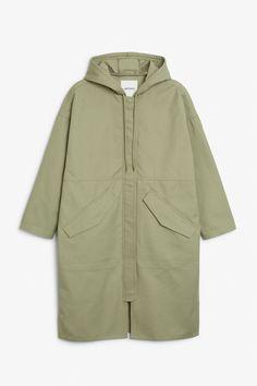 Long hoodie jacket - Two olives please - Coats & Jackets - Monki FI