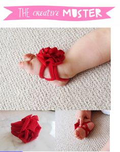 DIY - TCM Barefoot Baby Sandals Sewing Pattern & tutorial. Cute for a baby shower gift!!