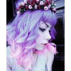 QUEER PUNK PASTEL GOTH ❤ liked on Polyvore featuring accessories, hair accessories, hair, people, goth hair accessories and gothic hair accessories